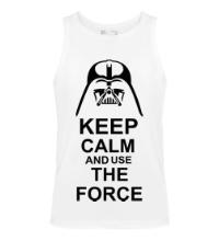 Мужская майка Keep calm and use the force