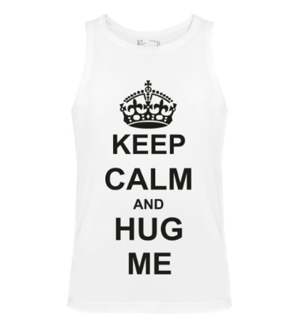 Мужская майка Keep calm and hug me
