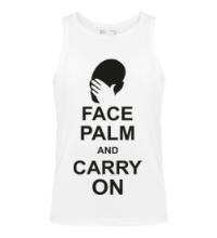 Мужская майка Face palm and carry on