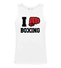 Мужская майка I love boxing