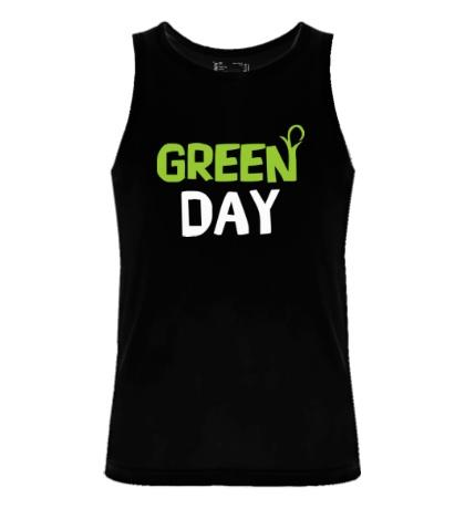 Мужская майка Vegan green day