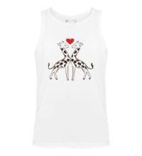 Мужская майка Влюбленные жирафы