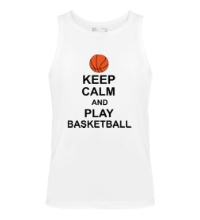 Мужская майка Keep calm and play basketball