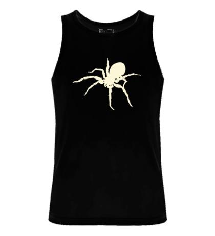 Мужская майка Ядовитый паук, свет
