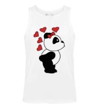 Мужская майка Поцелуй панды девочки