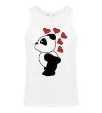 Мужская майка Поцелуй панды мальчика