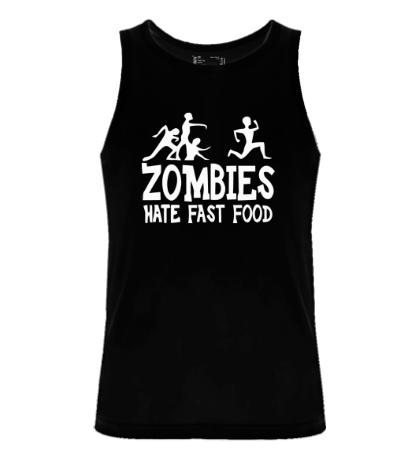 Мужская майка Zombies hate fast food