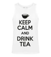 Мужская майка Keep calm and drink tea