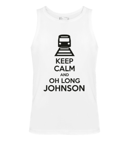 Мужская майка Keep calm and oh long johnson