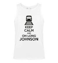 Мужская майка Keep calm and oh long johnson