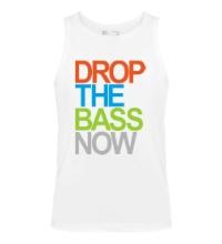 Мужская майка Drop the bass now