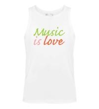 Мужская майка Music is love