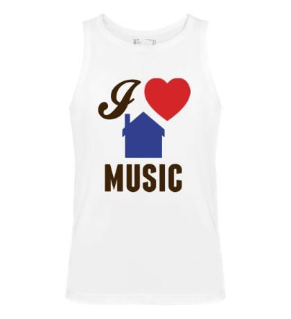 Мужская майка I Listen House Music