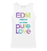 Мужская майка EDM pure love