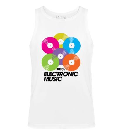 Мужская майка Electronic Vynil Music