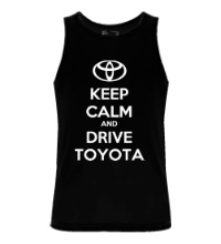 Мужская майка Keep calm and drive Toyota