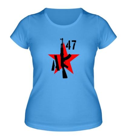 Женская футболка «АК-47 мафия»
