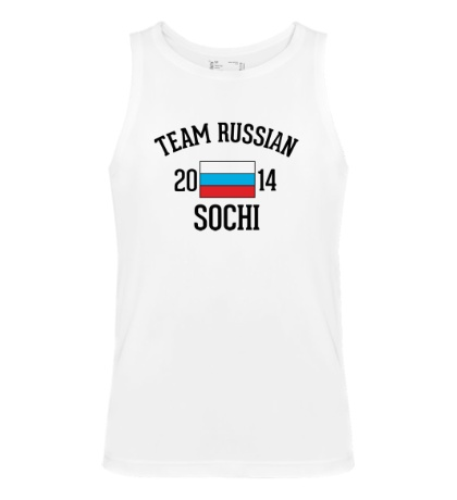 Мужская майка Team russian 2014 sochi