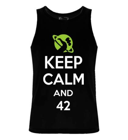 Мужская майка Keep calm and 42