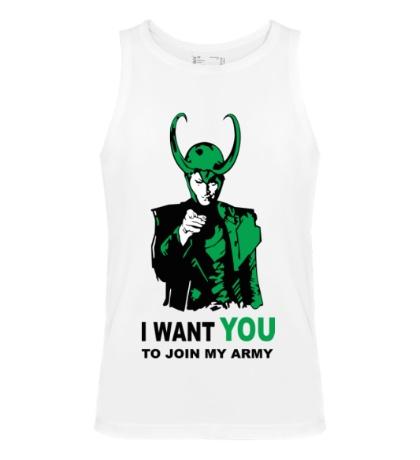 Мужская майка Loki: Join my army