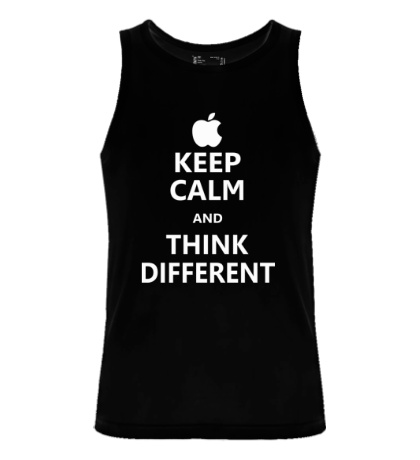 Мужская майка Keep calm and think different