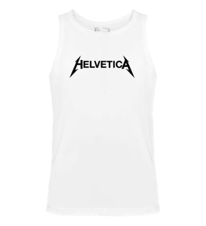 Мужская майка Helvetica Metallica