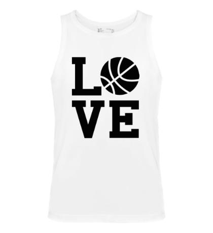 Мужская майка Влюблен в баскетбол