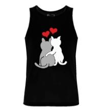Мужская майка Влюбленные котята