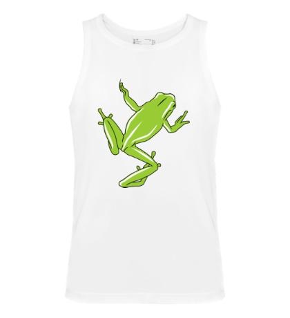 Мужская майка Зеленая лягушка