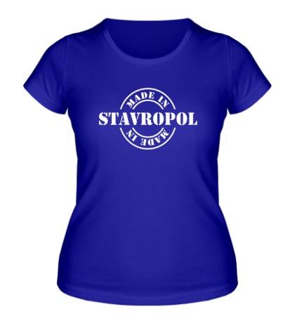Женская футболка Made in Stavropol