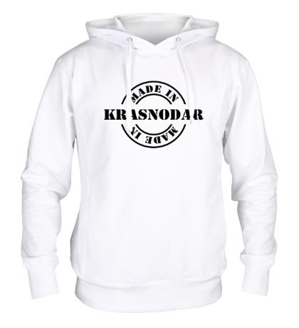 Толстовка с капюшоном Made in Krasnodar