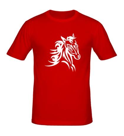Мужская футболка Тату голова лошади