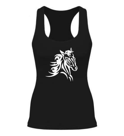 Женская борцовка Тату голова лошади