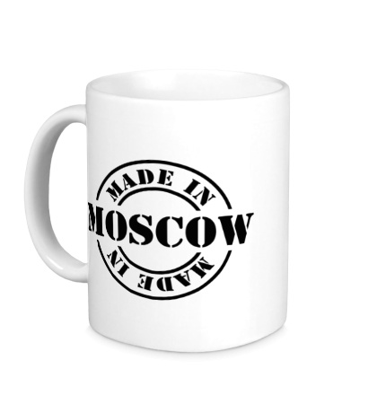 Керамическая кружка Made in Moscow