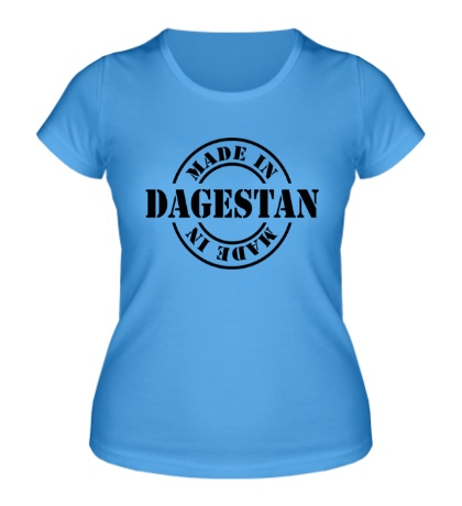 Женская футболка Made in dagestan