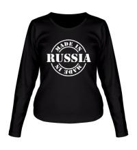 Женский лонгслив Made in Russia: Stamp