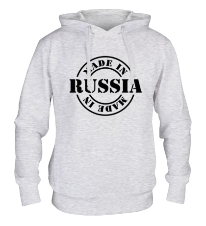 Толстовка с капюшоном Made in Russia: Stamp