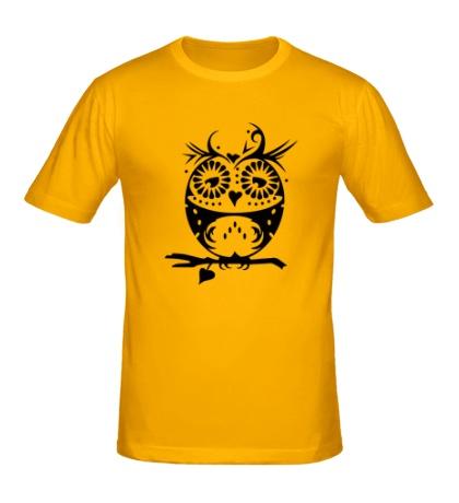 Мужская футболка Орнамент совы