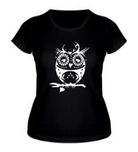 Женская футболка Орнамент совы