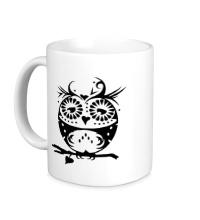 Керамическая кружка Орнамент совы