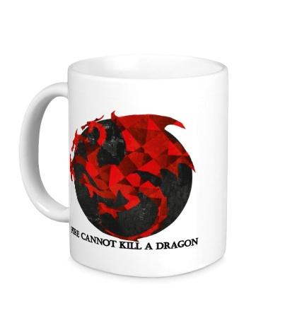 Керамическая кружка Герб драконов