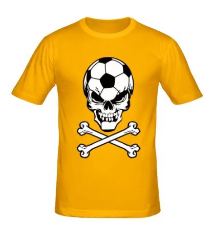 Мужская футболка Череп футболиста