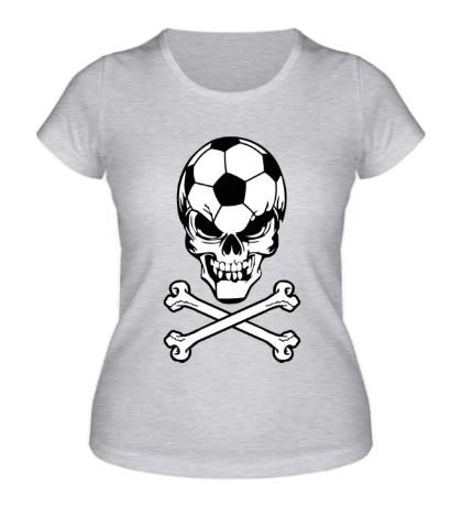 Женская футболка Череп футболиста