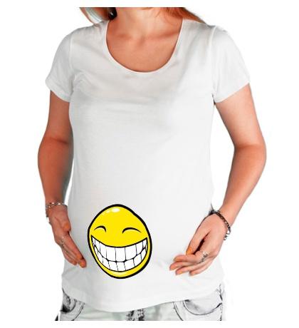 Футболка для беременной Позитивный смайлик