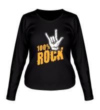 Женский лонгслив 100% Rock