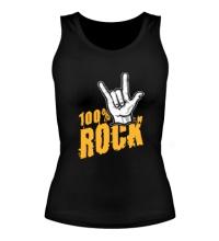 Женская майка 100% Rock