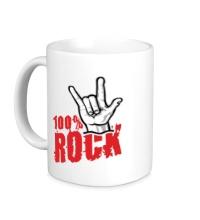 Керамическая кружка 100% Rock