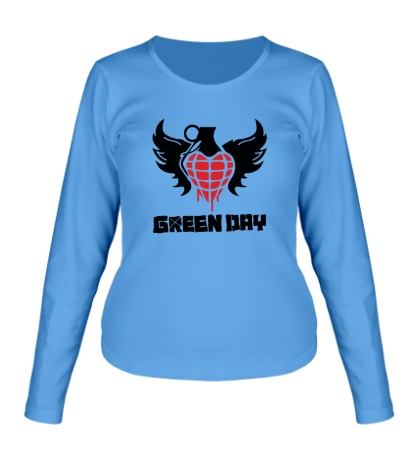 Женский лонгслив Green Day Wings