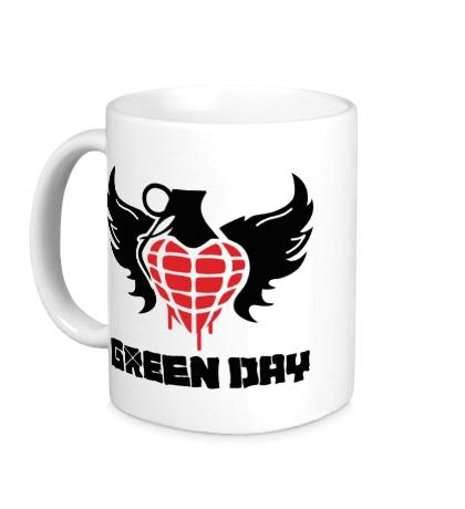 Керамическая кружка Green Day Wings