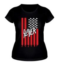Женская футболка Slayer flag
